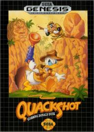Box cover for QuackShot starring Donald Duck on the Sega Nomad.