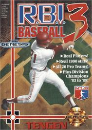 Box cover for RBI Baseball 3 on the Sega Nomad.