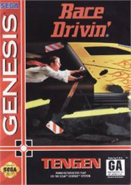 Box cover for Race Drivin' on the Sega Nomad.