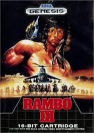 Box cover for Rambo III on the Sega Nomad.