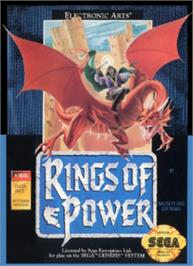 Box cover for Rings of Power on the Sega Nomad.