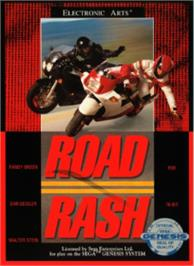 Box cover for Road Rash on the Sega Nomad.