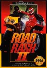Box cover for Road Rash 2 on the Sega Nomad.