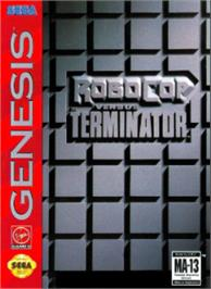 Box cover for Robocop vs. the Terminator on the Sega Nomad.