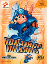 Box cover for Rocket Knight Adventures on the Sega Nomad.