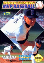 Box cover for Roger Clemens' MVP Baseball on the Sega Nomad.
