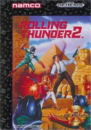Box cover for Rolling Thunder 2 on the Sega Nomad.