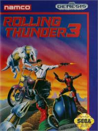 Box cover for Rolling Thunder 3 on the Sega Nomad.