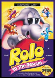 Box cover for Rolo to the Rescue on the Sega Nomad.