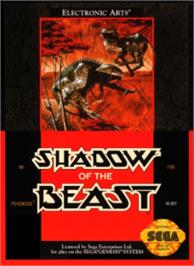 Box cover for Shadow of the Beast on the Sega Nomad.