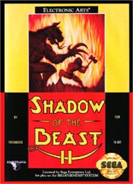 Box cover for Shadow of the Beast 2 on the Sega Nomad.