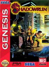 Box cover for Shadowrun on the Sega Nomad.