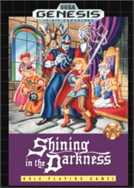 Box cover for Shining in the Darkness on the Sega Nomad.