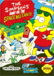 Box cover for Simpsons, The: Bart vs. the Space Mutants on the Sega Nomad.