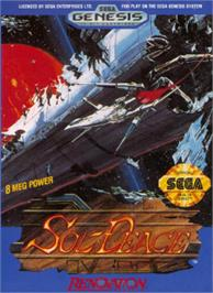 Box cover for Sol-Feace on the Sega Nomad.