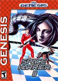 Box cover for Space Harrier II on the Sega Nomad.