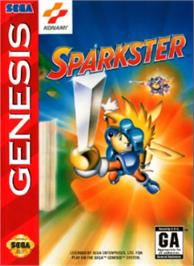 Box cover for Sparkster on the Sega Nomad.