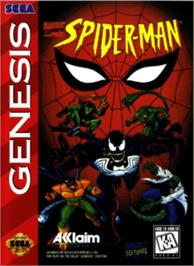 Box cover for Spider-Man: The Animated Series on the Sega Nomad.