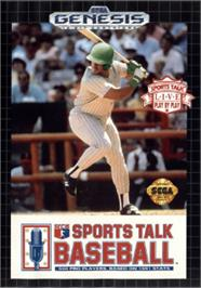 Box cover for Sports Talk Baseball on the Sega Nomad.