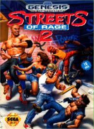 Box cover for Streets of Rage 2 on the Sega Nomad.