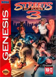 Box cover for Streets of Rage 3 on the Sega Nomad.