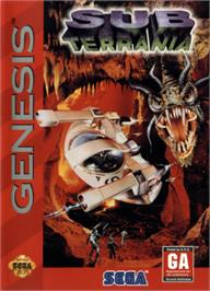 Box cover for Sub-Terrania on the Sega Nomad.