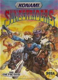 Box cover for Sunset Riders on the Sega Nomad.