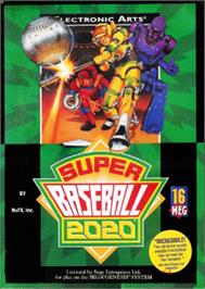 Box cover for Super Baseball 2020 on the Sega Nomad.