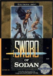 Box cover for Sword of Sodan on the Sega Nomad.