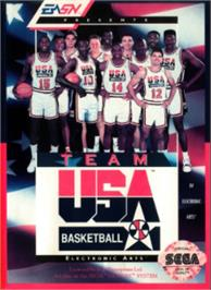 Box cover for Team USA Basketball on the Sega Nomad.