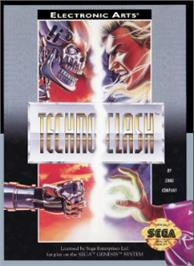 Box cover for Techno Clash on the Sega Nomad.