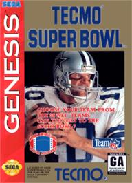 Box cover for Tecmo Super Bowl on the Sega Nomad.