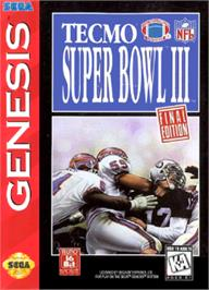 Box cover for Tecmo Super Bowl III: Final Edition on the Sega Nomad.