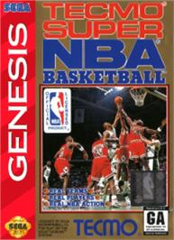 Box cover for Tecmo Super NBA Basketball on the Sega Nomad.