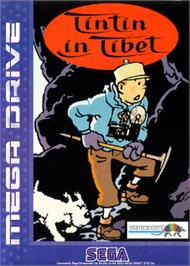 Box cover for Tintin in Tibet on the Sega Nomad.