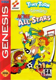 Box cover for Tiny Toon Adventures: Acme All-Stars on the Sega Nomad.