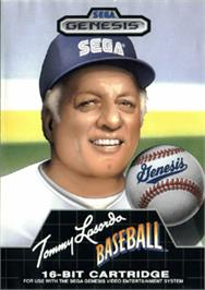 Box cover for Tommy Lasorda Baseball on the Sega Nomad.