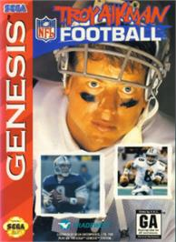 Box cover for Troy Aikman NFL Football on the Sega Nomad.
