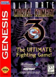 Box cover for Ultimate Mortal Kombat 3 on the Sega Nomad.