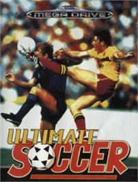 Box cover for Ultimate Soccer on the Sega Nomad.