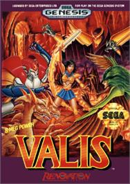 Box cover for Valis: The Fantasm Soldier on the Sega Nomad.