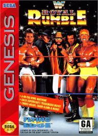 Box cover for WWF Royal Rumble on the Sega Nomad.