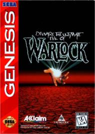Box cover for Warlock on the Sega Nomad.