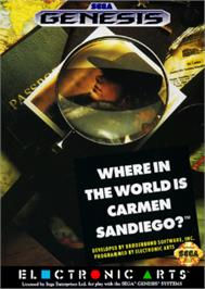 Box cover for Where in the World is Carmen Sandiego on the Sega Nomad.