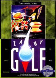Box cover for Will Harvey's Zany Golf on the Sega Nomad.