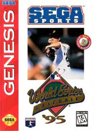 Box cover for World Series Baseball '95 on the Sega Nomad.
