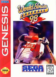 Box cover for World Series Baseball '98 on the Sega Nomad.