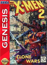 Box cover for X-Men 2: Clone Wars on the Sega Nomad.