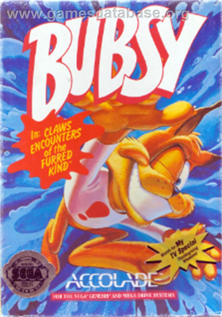 Bubsy in: Claws Encounters of the Furred Kind - Sega Nomad - Artwork - Box