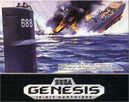 Cartridge artwork for 688 Attack Sub on the Sega Nomad.